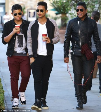 All seems good for Jermaine who was recently embattled with the mother of the boys over child support payments.