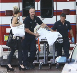 Rita Ora on Stretcher