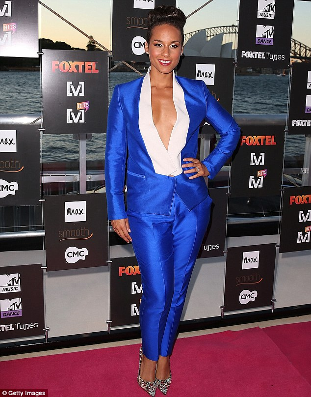 Alicia Keys at launch of the Foxtel Music Channels