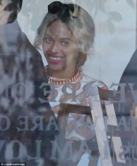 Beyonce is all smiles at birthday lunch