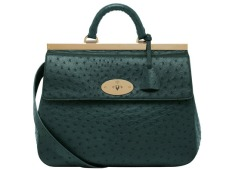 Suffolk Pheasant in Green Ostrich, £5,000 by Mulberry