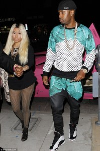 Nicki Minaj arrives at her birthday bash