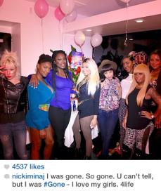 Nicki Minaj celebrates