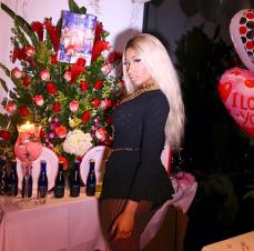 Nicki Minaj poses on birthday