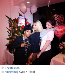 Nicki with Kylie Jenner and little twist