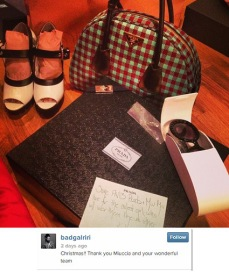 Rihanna started posting photos of the gifts shes been receiving
