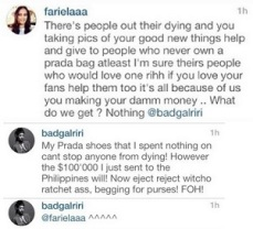 This girl on instagram tried to give Rihanna a lecture on photo etiquette