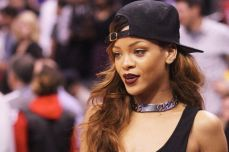 Rihanna at basketball game