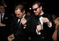 Benedict Cumberbatch dancing with Micheal Fassbender