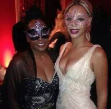 Beyonce and guest at the party