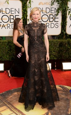Cate Blanchet wore a sexy lace gown
