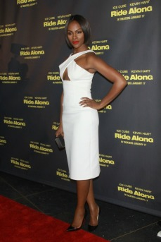 Tika Sumpter wows in this white ensemble for The Ride Along Premiere