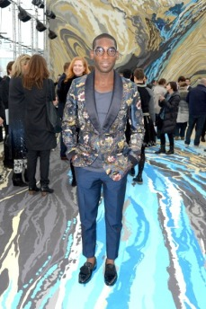 Tinie Tempah attends The Louis Vuitton show looking good!
