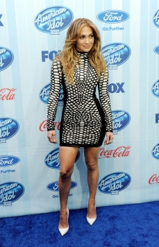 Jennifer Lopez in Tom Ford at the American Idol Premiere
