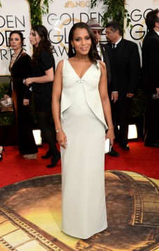 Kerry Washington in a custom made Balenciaga gown