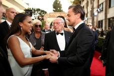 Kerry Washington shares a lovely moment with Leonardo Di Caprio