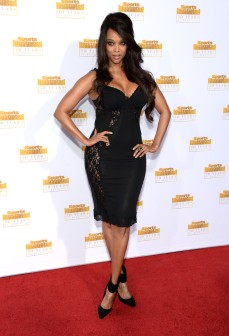 Tyra Banks showing us she's still got it at the Sports Illustrated 50th anniversary